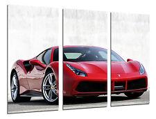 Cuadro Moderno Fotografico Coche Deportivo, Ferrari Rojo,97x62cm ref. 26385
