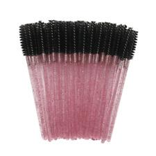 20x Disposable Black Eyelash Makeup Brush Crystal Rose Handle Mascara Wands