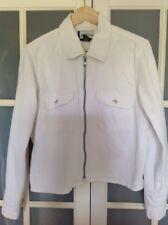 Veste Blouson Jean Femme Blanc Coton taille L