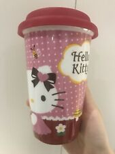 Hello Kitty Pink Travel Cup Mug Red Silicone Top