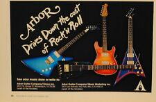 1983 Arbor electric guitars print Ad