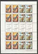 H0876 1992 ARGENTINA FAUNA PREHISTORIC ANIMALS DINOSAURS 1SH MNH