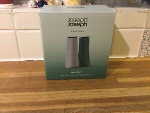 Joseph Joseph Editions Milltop No Spill Salt & Pepper Mills.Sage.Brand New.