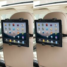 "2 x Universal Headrest Seat Car Holder Mount for iPad 1 2 3 4, Air & 9"" Tablets"