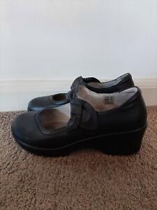 Alegria Black Mary Jane Work Comfort Casual Nursing Shoe Size 38 Exc condition