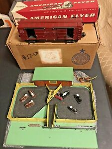"""American Flyer No. K771 """"S"""" Scale Stock Yard and Cattle Car in Original Box"""
