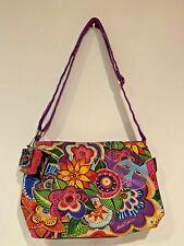 Laurel Burch Carlotta's Garden Crossbody Bag Cats Flowers Brand New