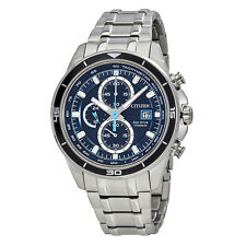 Citizen TI+IP Blue Dial Mens Chronograph Watch CA0349-51L