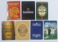 7 Single Playing Cards Carlsberg Guinness Stout China Harbin Beer Martell (#203)