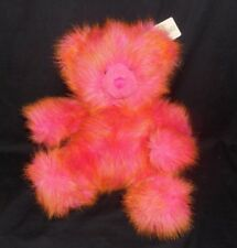 "14"" RUSS TAFFY GIRL POWER PINK & ORANGE TEDDY BEAR STUFFED ANIMAL PLUSH TOY TAG"