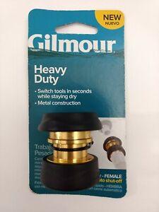 Gilmour Heavy Duty Metal Hose Quick Connecto Female NEW w/ Auto Shut-Off