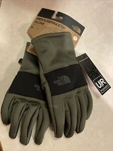 The North Face TNF Mens Sierra Etip™ Gloves Size Medium New Taupe Green $45