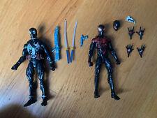 marvel legends custom deadpool and miles morales lot