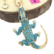 Charm Betsey Johnson Pendant Rhinestone Chain Jewelry Gift Women Lizard Necklace