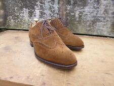 ALFRED SARGENT BROGUES – BROWN / TAN SUEDE – UK 7 – DULWICH -EXCELLENT CONDITION