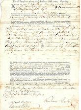 Revolutionary War Major Warham Parks Signed Deed 1787 Westfield Massachusetts