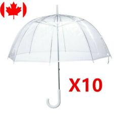 10X Clear Umbrella Transparent Mushroom Weeding Party Parasol Portable Rain PVC