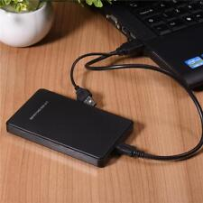 "Black White Hard Disk Drive Enclosure USB 2.0 2.5"" Inch External SATA HDD Case"