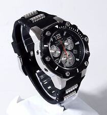 Invicta Speedway Stainless Steel Chronograph 51mm 22235 Black Silicone Men Watch