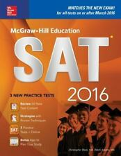 McGraw-Hill Education SAT 2016 Edition by Mark Anestis & Christopher Black 2016
