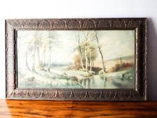 George Ernest Colby Watercolor Painting Antique Landscape East Coast Artist