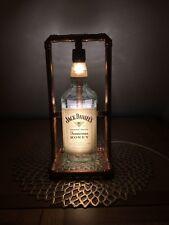 JD Honey Jack Daniels Bottle Copper Retro Handmade Led Lamp 1l