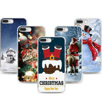 Christmas Gift Xmas Ultra Slim Rubber Soft TPU Silicone Case Cover for iPhone X