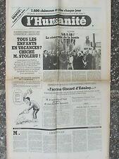 L'Humanité - (14 fév 1981) Racisme - Chômage - Produire et investir en France