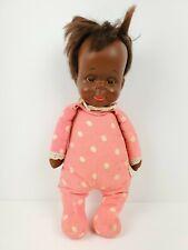 Vtg Mattel DROWSY BABY Talking Doll AA Black African American MUTE