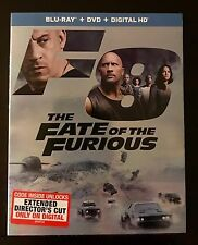 THE FATE OF THE FURIOUS(BLU-RAY+DVD+DIGITAL HD)W/SLIPCOVER  BRAND NEW