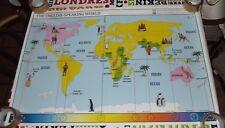 Objet de Métier Carte Scolaire  Rossignol Planisphère,THE BRITISH ISLES