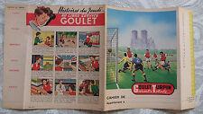 """année 60 Protège Cahier j """"GOULET TURPIN (3) footballeurs stade de REIMS """" REIMS"""