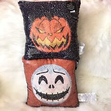 Nightmare Before Christmas Disney Jack Sequin Pillow Skellington Halloween
