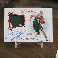 2018-19 Panini Flawless Donte diVincenzo Rookie Patch Auto /15 RPA Bucks
