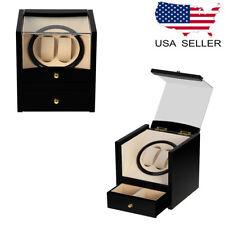 Wristwatch Storage Display Organizer Box Wood Automatic Rotation Watch Winder
