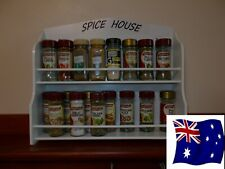 Spice Rack  13  to  21  jar SPICE HOUSE  IN White  New Design ( made in OZ )