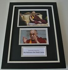 Dalai Lama SIGNED A4 FRAMED Photo Autograph Display His Holiness Tenzin Gyatso