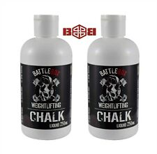 2 x Battlebox Weightlifting® 250ML Liquid Chalk Rock Climbing Gymnastic CrossFit