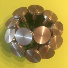 Lot of 12 Stainless Steel Nickel Designer Drawer & Door Pulls / Knobs / Handles