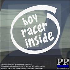 1 x Boy Racer à l'intérieur de vitre, Voiture, Van, Autocollant, Signe, véhicule, adhésif, vitesse, dérive