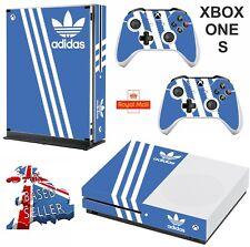 ADIDAS BLUE xbox one S (SLIM)  Decals skins wrap vinyl sticker