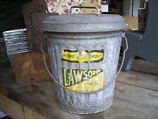 "Vintage Industrial Galvanized Zinc Waste/Trash Can Small 18"" Metal Bucket"