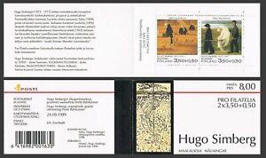 Finland B263 ab booklet, MNH. Art, 1999. Hugo Simberg. Garden of Death, Angel.
