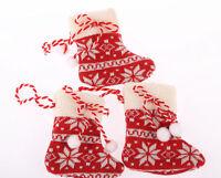 Set of STOCKING Christmas Xmas Tree Decorations,  Ornament Figurine Sock Fabric
