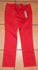 CHICOS SO SLIMMING SHORT SLIM LEG RED JEANS PANTS-SZ .05 SHORT-NWT$99