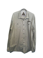 Howler Bros Huckberry Men's Vented Shirt XXL 2XL Long Sleeve Beige