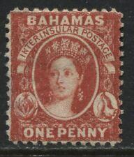 Bahamas QV 1863 1d red  unused no gum