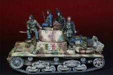 1/35 Resin Figure Model Kit WWII Italian Tank Crew 4 Figures & Accessories only