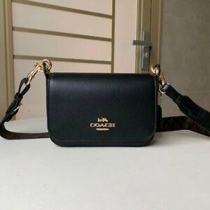 Coach Small Messenger Crossbody Bag Black F77979