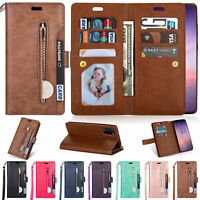 For Samsung Galaxy S20FE A71 5G Card Pocket Leather Flip Stand Wallet Case Cover